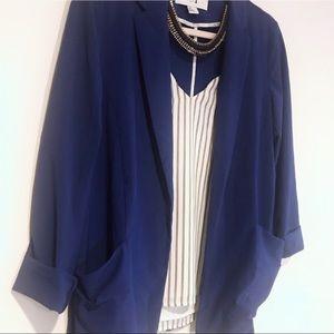 ✨Forever 21✨ Royal Blue Pocket Blazer